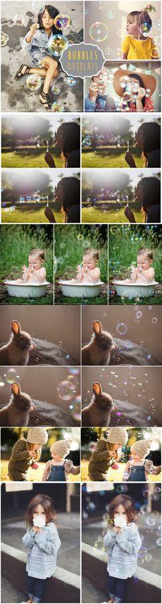 45 Bubble Photo Overlays JPG. Photoshop Layer Styles. $8.00