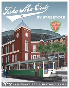 Market Street Railway car no. 798 passing AT&T Park – Home of the San Francisco Giants.