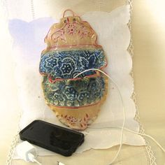 Wall Mounted iphone 5 6 6 Charging Station Cell by PorcelainJazz Iphone 5 6, Wall Pockets, Stoneware Clay, Ceramic Artists, Clay Projects, Victorian Fashion, Wall Mount, Color Schemes, Pottery