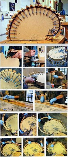 Making Bent Lamination Curves - Bending Wood Tips and Techniques | WoodArchivist.com