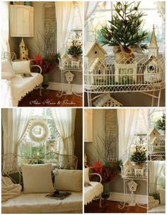 Aiken House & Gardens: Winter/Christmas Touches in the Porch