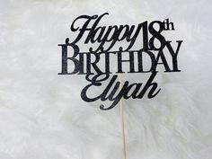 Any Number Custom Birthday Cake Topper 18th Cake Topper | Etsy