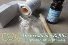 How to Make Your own Air Freshener Refills  PIN SUCCESS! Author says online posts/pins about air freshener/home fragrance diy refills work    (homemade, how to)