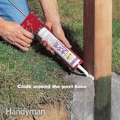 How to Set Fence Posts That Wont Rot Keep moisture and insects from destroying your cedar fence posts