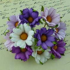 Lilac daisy flowers, for Bekki to view