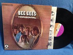 Vintage Bee Gees  Horizontal Vinyl LP Record by sweetleafvinyl