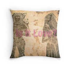 IS IT LOVE? Vibrant, It Is Finished, Throw Pillows, Prints, Design, Love, Toss Pillows, Cushions
