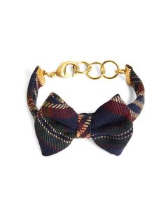 Plaid bow tie bracelet