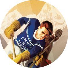 AMBRI' PIOTTA HC Ice Hockey VINTAGE POSTERS
