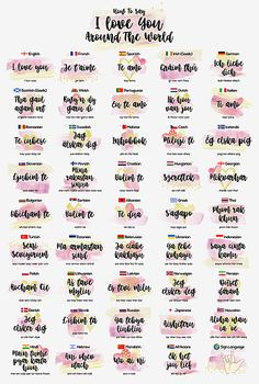 How to Say I love You Around the World by Zapista OU - Wtf fun facts - I Love You Languages, Words In Different Languages, I Love You Quotes, Love Yourself Quotes, Cute Quotes, Reasons Why I Love You, Say I Love You, I Love You Funny, 52 Reasons