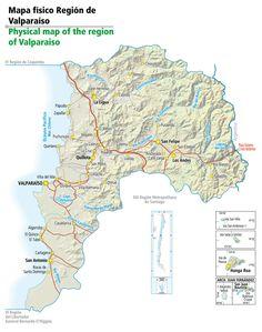 #2 mapa de la región de Valparaíso