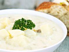 Egyszerű tejfölös krumplifőzelék Recept képpel - Mindmegette.hu - Receptek Feta, Mashed Potatoes, Food And Drink, Lunch, Cheese, Ethnic Recipes, Food Porn, Whipped Potatoes, Smash Potatoes