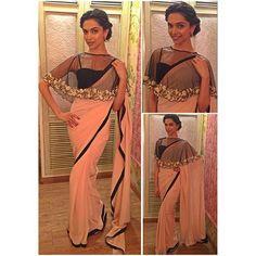 @deepikapadukone looks absolutely splendid in a saree! Don't you agree? #BajiraoMastaniOn18thDec #BajiraoMastaniPromotions