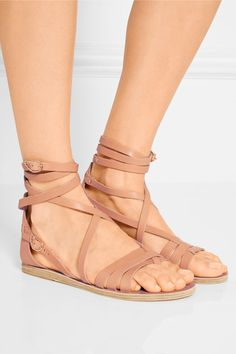 Ancient Greek Sandals   Satira Ledersandalen   NET-A-PORTER.COM