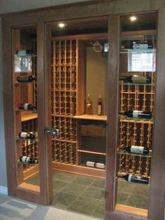 18 ideas glass closet doors wine cellar for 2019 Tasting Room, Wine Tasting, Wine Cellar Basement, Home Wine Cellars, Wine Cellar Design, Wine Display, Wine Glass Rack, Cigar Room, Wine Wall