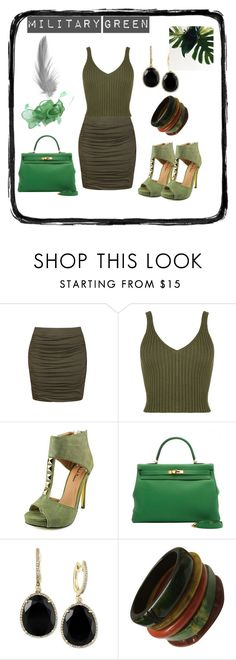"""""""military style"""" by lejla150 ❤ liked on Polyvore featuring Ally Fashion, WearAll, Michael Antonio and Effy Jewelry"""