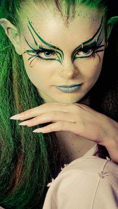 fantasia-maquillaje-mujer alien