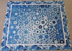 I am off to the Road to California Quilt show early this morning. One Block Wonder, Hexagon Quilt, Blue Quilts, English Paper Piecing, Quilt Blocks, Table Runners, Color Combinations, Needlework, Quilting