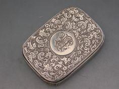 Victorian Antique Silver Trick Opening Vesta Case