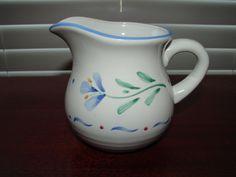 Vintage Stoneware Creamer, INTERNATIONAL Tableworks England, Hand Painted Floral Cream Pitcher by BackStageVintageShop on Etsy