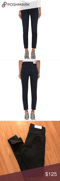 80a0d02370760e Rẻ/Done High Rise Ankle Zip - Black 23 NWOT Brand new without tag high rise  Re/done jeans in size Has zipper at the ankle and skinny leg. Never worn  since ...