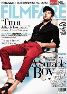 Ranbir Kapoor on the coverpage of Filmfare Bollywood Cinema, Bollywood Photos, Bollywood Stars, Bollywood Celebrities, Bollywood Fashion, Ranveer Singh, Ranbir Kapoor, Akshay Kumar, New Actors