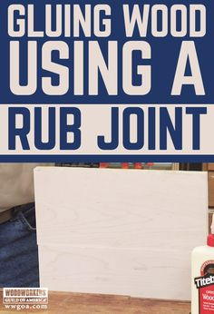 When gluing wood together a rub joint can be used to ensure a strong joint when clamping is not an option. George Vondriska teaches you how to create a rub joint that you can use on your woodworking projects. By jointing the edges of both pieces, painting wood glue onto one edge and then applying slight pressure to rub the pieces together, you can create an edge-to-edge joint that is strong enough to hold even under severe force.