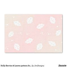 Holly Berries & Leaves pattern Soft Pink Tissue