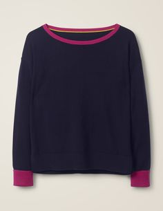 Spun from a cotton-and-wool blend, this boat-neck jumper has a relaxed fit, making it effortlessly versatile and comfy. Boden Uk, Pullover, Boat Neck, Wool Blend, Work Wear, Knitwear, Jumper, Cool Style, Tricot