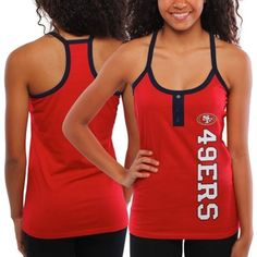 San Francisco 49ers Ladies Fragment Knit Tank Top - Scarlet