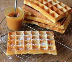 Crispy waffle as on the carnival Sugar Cookies Recipe, Cookie Recipes, Waffles, Pastry Cook, Crispy Waffle, Food Tags, Arabic Food, Kitchen Recipes, Sweet Recipes