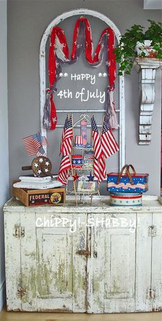 Time to start gathering up Fourth of July decorations!