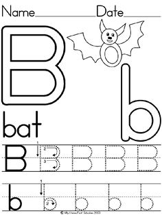 B is for Bat Preschool Printable First-School is the BEST place to print premade handwriting worksheets! I've been using this site f. Letter Worksheets For Preschool, Halloween Worksheets, Handwriting Worksheets, Preschool Letters, Alphabet Worksheets, Free Preschool, Preschool Printables, Preschool Lessons, Handwriting Practice