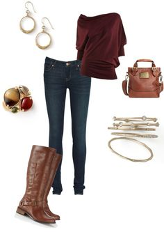 """Outfit with lia sophia jewelry"" by rkidder on Polyvore"