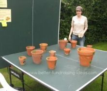 Simple Ideas For Fundraising Activities ping pong flower pots