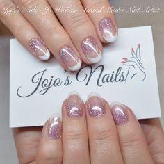 CND Shellac french manicure with glitter fade - By Jo Wickens @ Jojo's Nails - www.jojosnails.com
