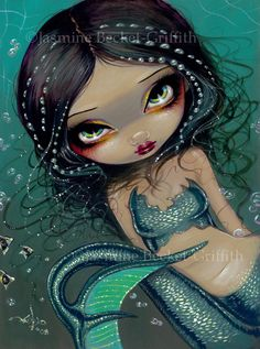 Pearl Swirl Mermaid ocean bubble.