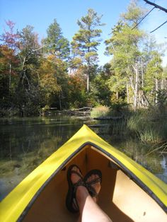 Canoeing in Leelanau Peninsula, Michigan.