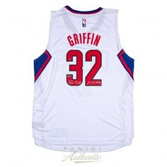 """BLAKE GRIFFIN Autographed White Clippers Swingman Jersey wth """"10-11 ROY""""…"""