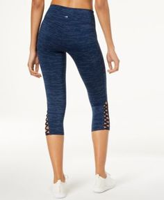 4fdf91b706a11 Ideology Heathered Cutout Cropped Leggings, Created for Macy's & Reviews -  Pants & Capris - Women - Macy's