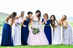 These beautiful ladies are all wearing different Gelique Dresses and they look amazing. These colours look amazing together and they all look so pretty and comfortable in their dresses. Bridesmaids, Bridesmaid Dresses, Beautiful Ladies, Dress Making, Designer Dresses, Colours, Lady, Amazing, Pretty