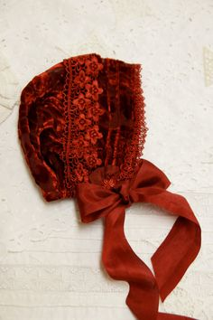 Silk velvet  bonnet -- baby bonnet, soft hat, infant hat, photo prop, velvet hat, little girl hat, special occasion hat,  christening bonnet...