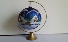 Boule DE Noël EN Verre Peinte À LA Main | eBay