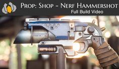 Bill shows you how to transform a normal Nerf gun into a super amazing prop weapon! Punished Props, Nerf Mod, Steampunk Weapons, Dinosaur Drawing, Clone Trooper, Foam Crafts, Larp, Hand Guns, Building