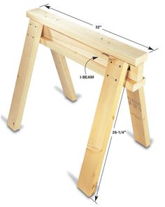 Simple Homemade Sawhorse