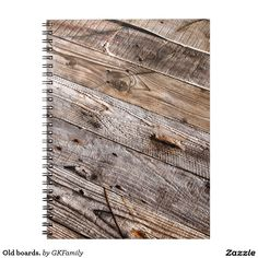 Old boards. spiral note book