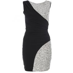 Black and Silver Sequin Sleeveless Bodycon Dress (515 ZAR) ❤ liked on Polyvore featuring dresses, vestidos, robe, sequin cocktail dresses, bodycon dress, black silver sequin dress, body con dress and sequin bodycon dress
