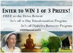 Take a Transformative Journey with us! Enter to Win 1 of 3 Prizes!  #wintreeoflifeus