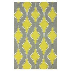 Flatweave wool rug with a geometric motif. Made in India. $123 Product: RugConstruction Material: 100% WoolColor: YellowFeatures: FlatweaveNote: Please be aware that actual colors may vary from those shown on your screen. Accent rugs may also not show the entire pattern that the corresponding area rugs have.Cleaning and Care: Spot treat with a mild detergent and water. Professional cleaning is recommended if necessary.
