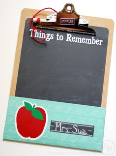 DIY Clipboard Command Center - with chalkboard and pocket!